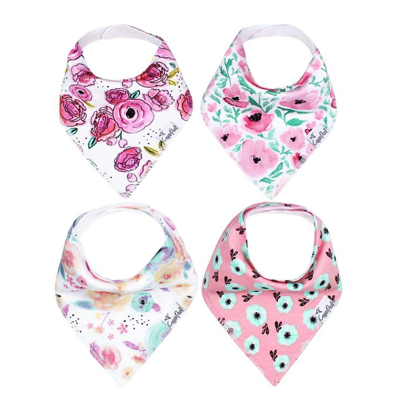 Baby Bandana Bibs Set of 4 - Bloom