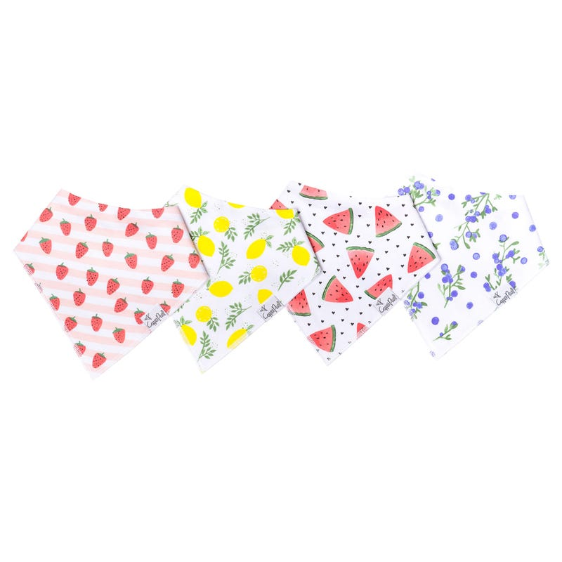 Baby Bandana Set of 4 Fruits Georgia
