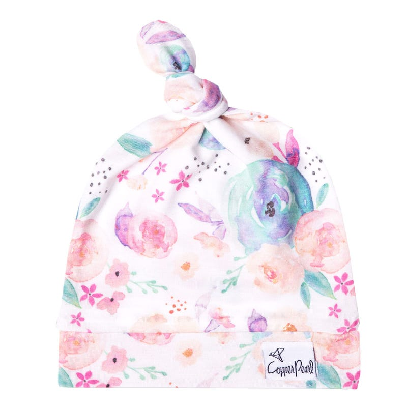 Bloom Top Knot Hat 0-4m