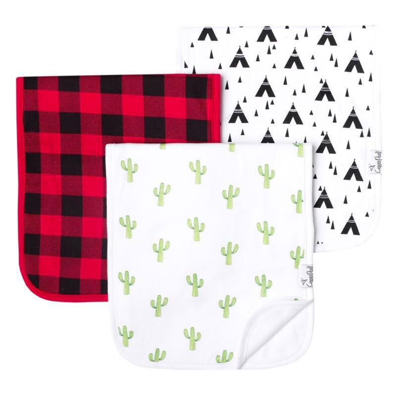 Burp Cloths Set of 3 -  Cactus Phoenix