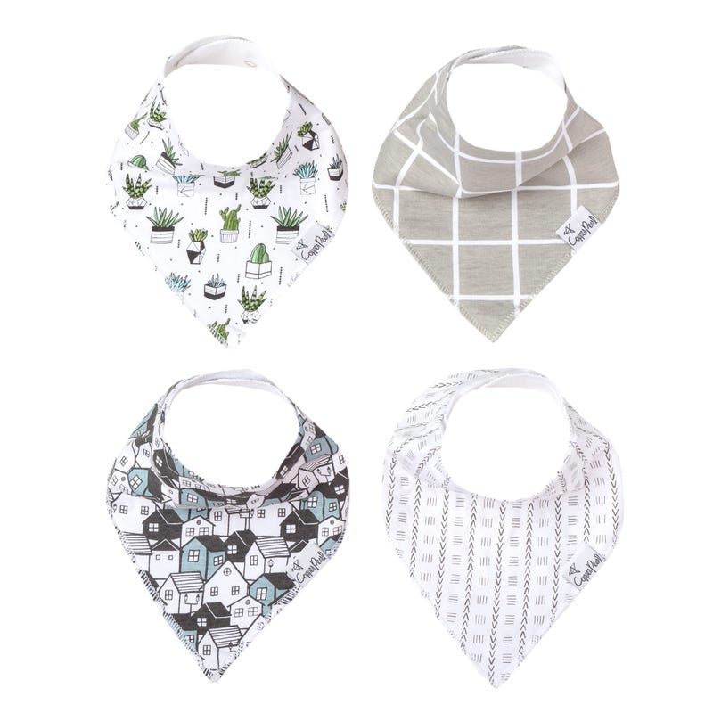 Baby Bandana Bibs Set of 4 - Urban
