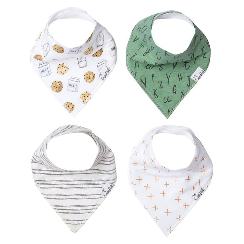 Baby Bandana Bibs Set of 4 - Chip
