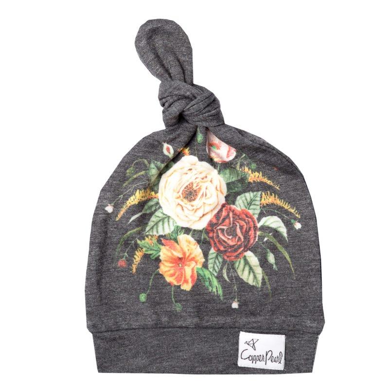 Flower Raven hat 0-4m