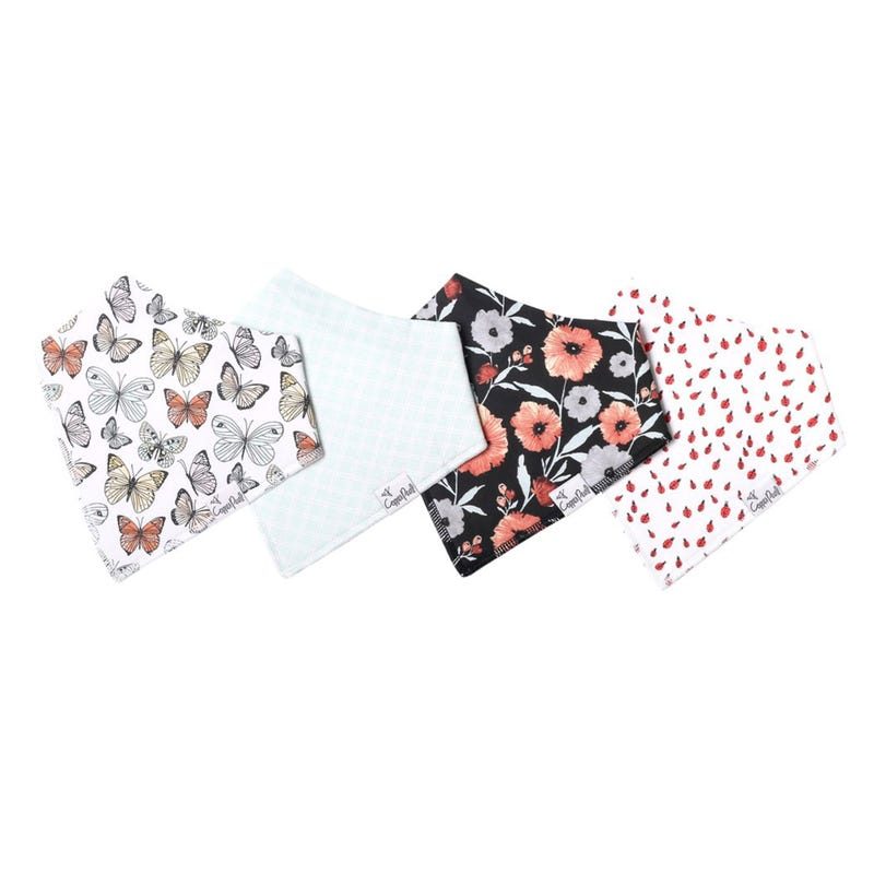 Baby Bandana Bibs Set of 4 - Butterfly Dot