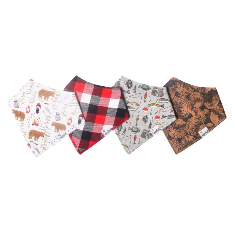 Baby Bandana Bibs Set of 4 - Forest Lumberjack