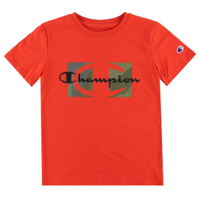 T-shirt Script Over Camo 8-20ans
