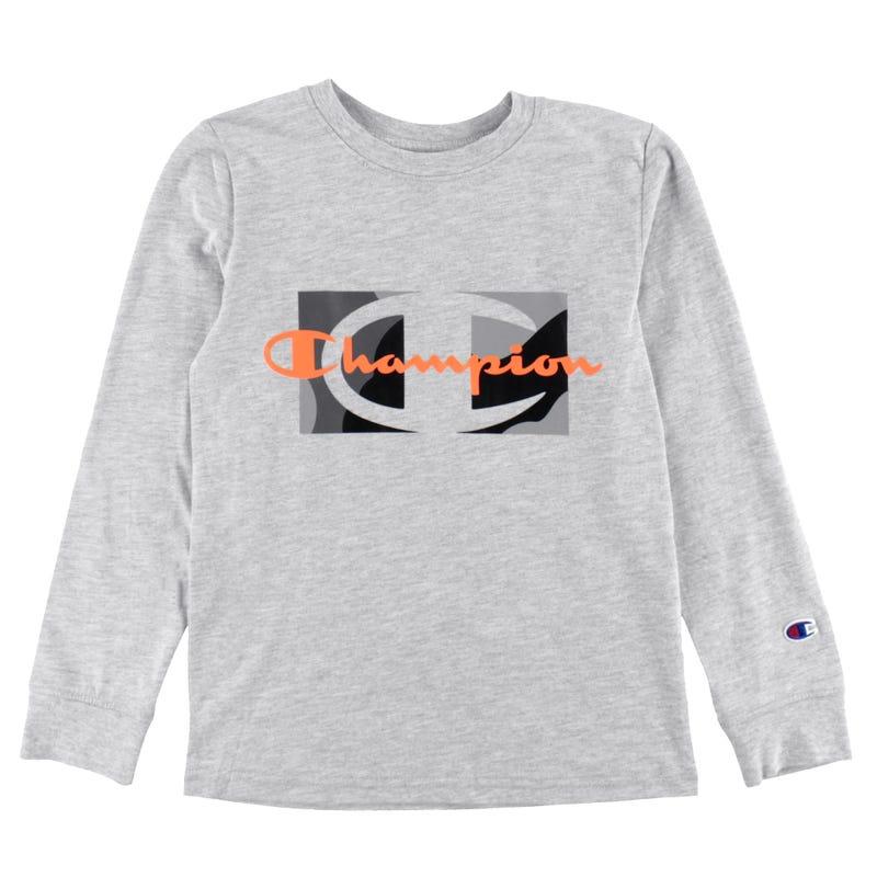 T-shirt Manches Longues Script Camo 8-20ans