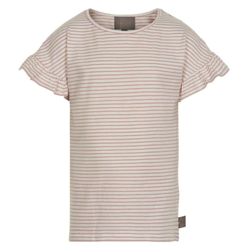 T-Shirt Rayé Fleurs 7-14ans