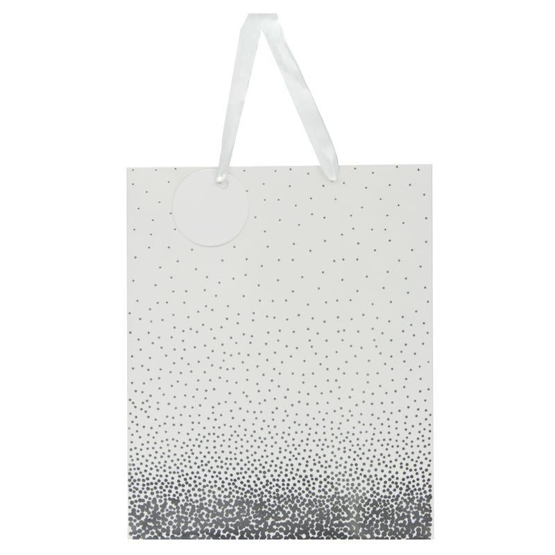 Sac Cadeau Confetti Blanc