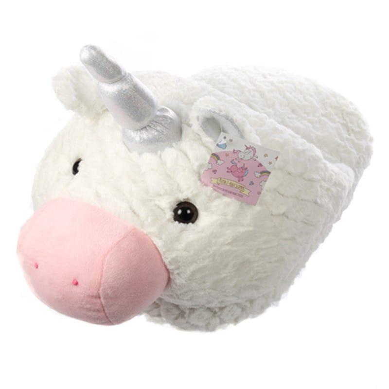 2 Foot Unicorn Slipper - White