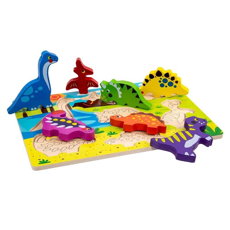 Casse-Tête en Bois - Dinosaure