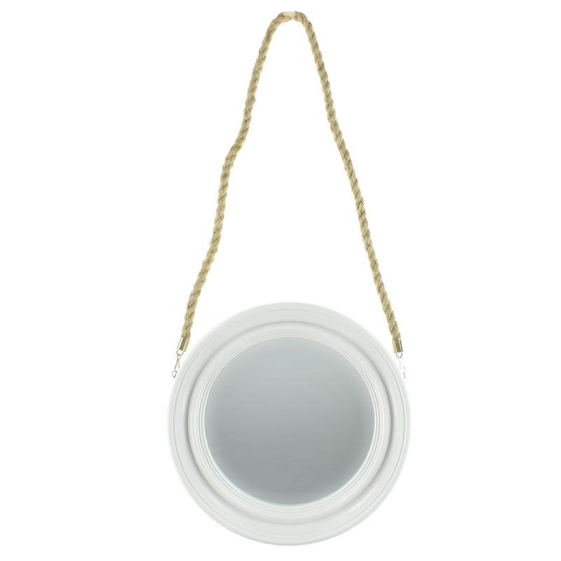 Miroir Rond - Blanc