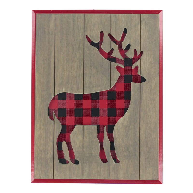 Frame Deer Red and Black