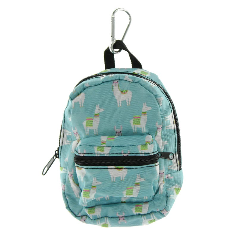 Llama Mini Backpack - Blue