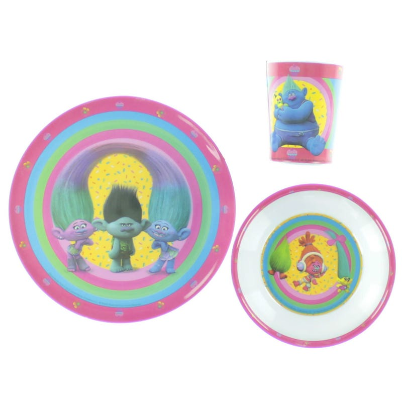 Trolls Dishes 3 Pieces