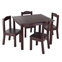 Table and 4 Chairs for Kids - Espresso