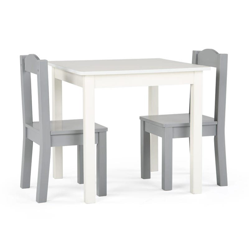 Table and 2 Chairs for Kids - White / Grey