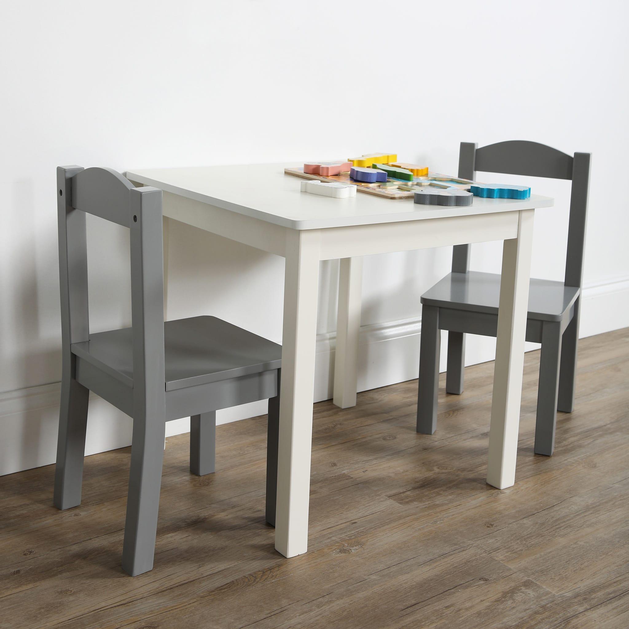 Gris Enfant pour Chaises Danawares Table 2 Blanc Clément et PiuTOkXZ