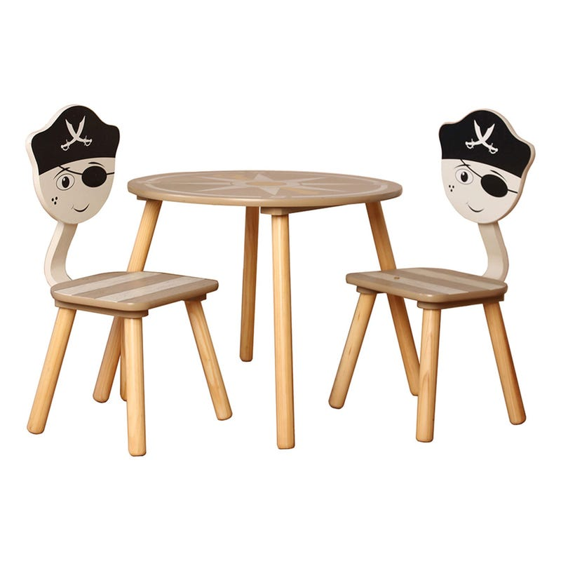 Table and 2 Chairs for Kids - Pirate