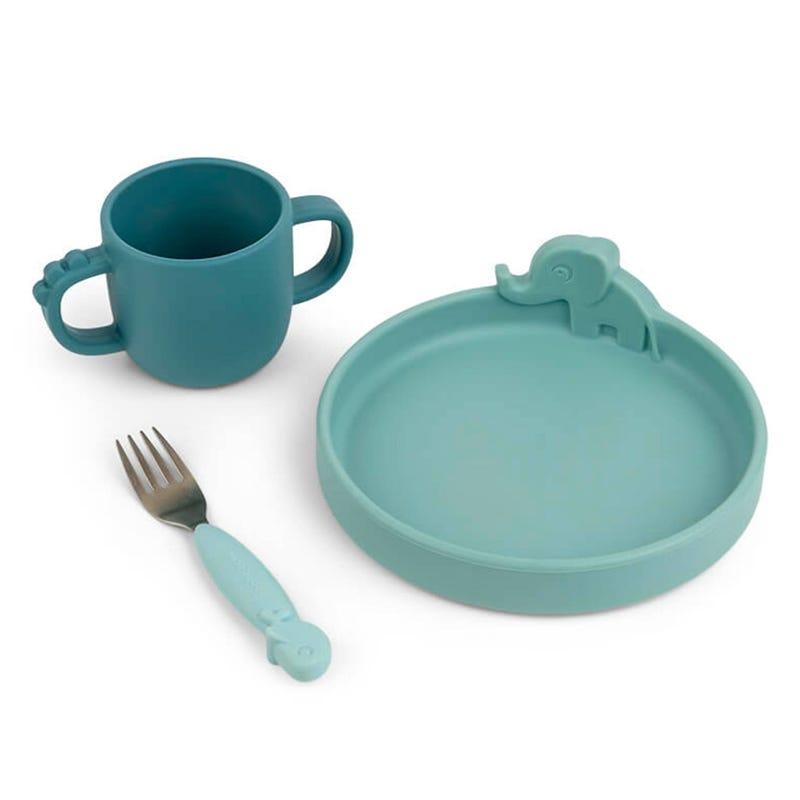 Peekaboo Dinner Set - Deer Friends Blue