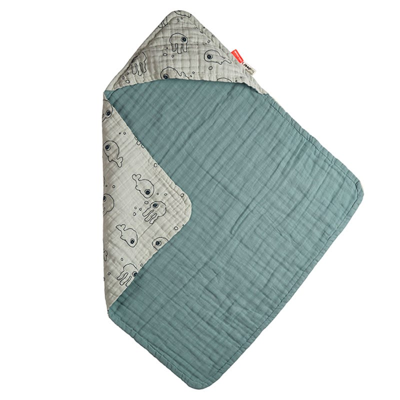 Hooded Towel - Sea Friends Blue