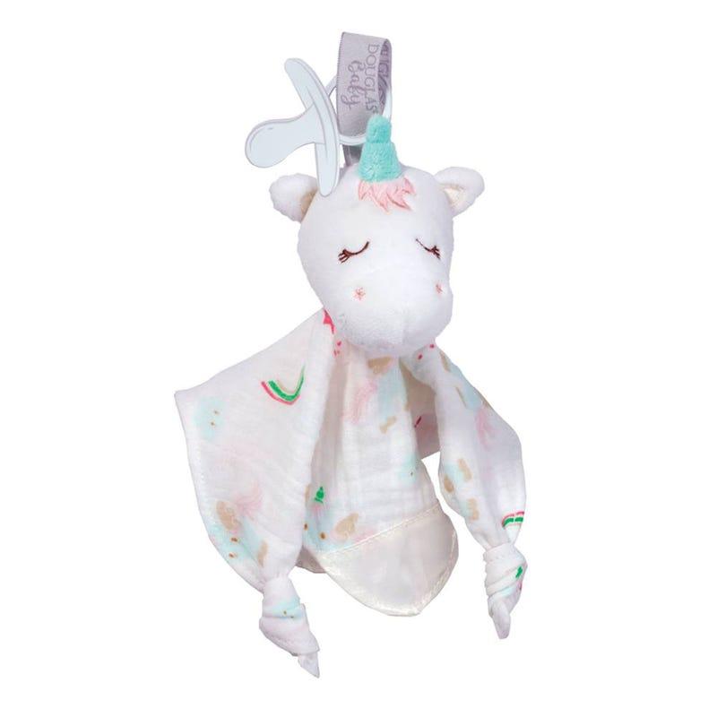 Pacifier Clip Blanket Unicorn - Emilie