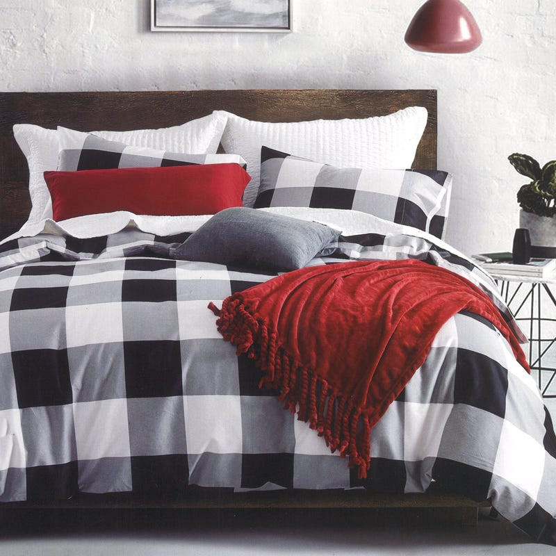 Buffalo Twin Duvet Cover - Black/White