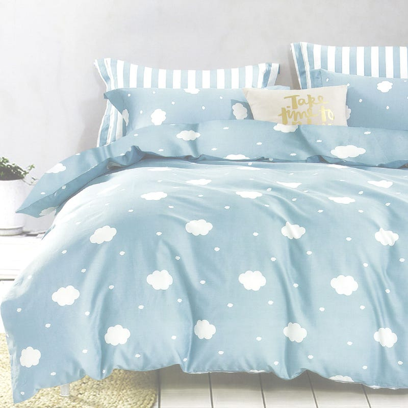 Duvet Cover Double Cloud - Blu