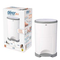 Diaper Pails Dekor Plus - White