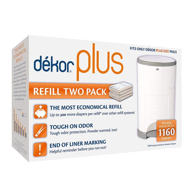 Refill Dekor Plus for Diaper Pails Set of 2