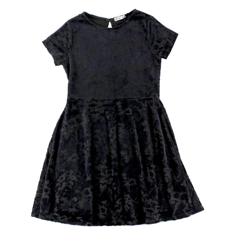 Velvet Pop Chic Dress 7-14y