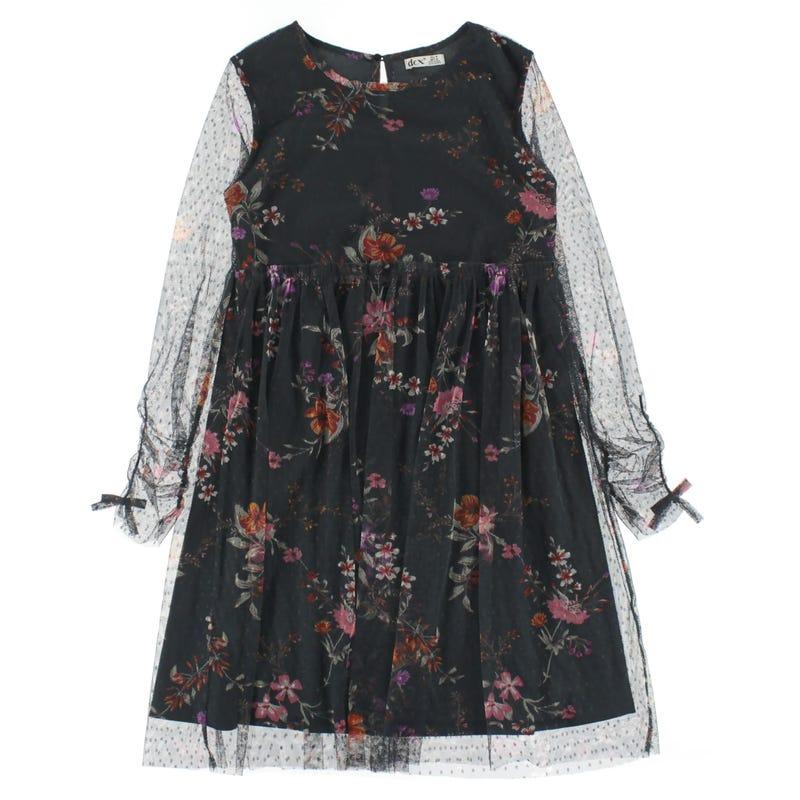 Floral Mesh Dress 7-14