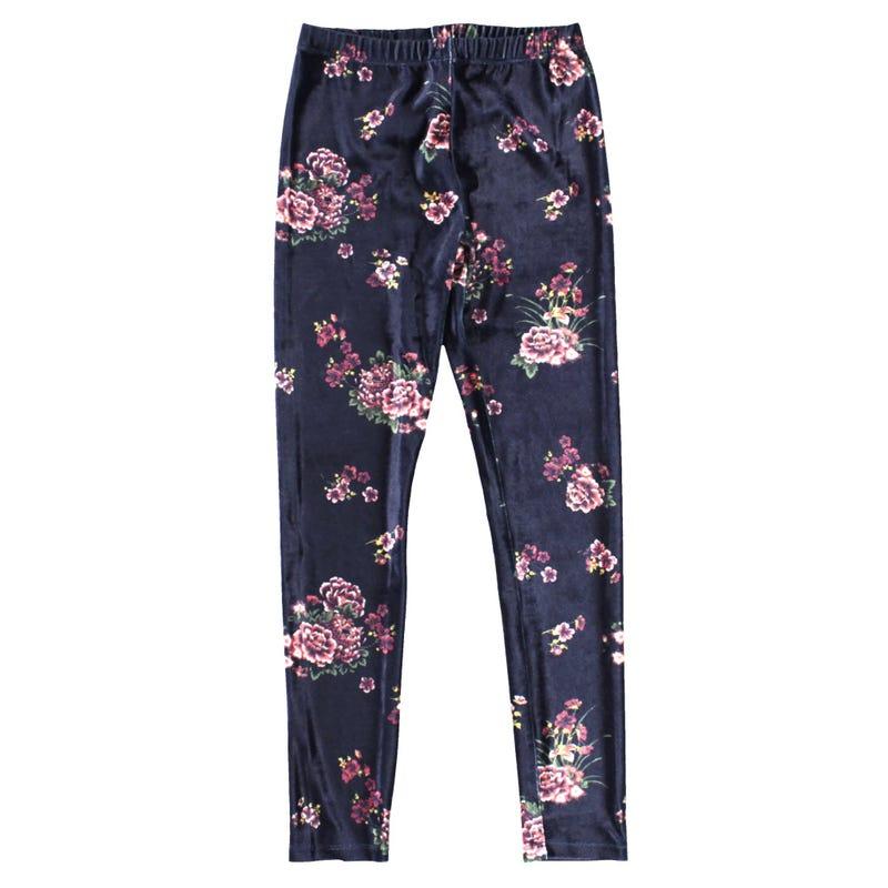 Floral Velvet Legging 7-14y