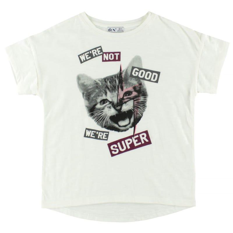 Floral Cat T-Shirt 7-14y