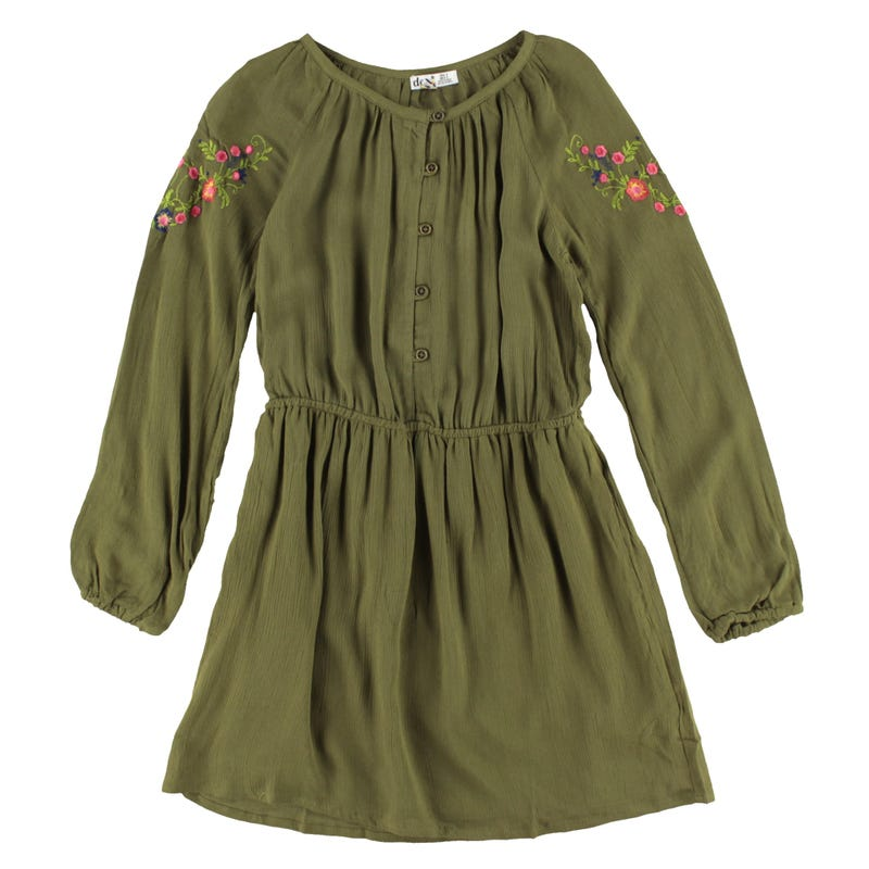 Mexico Long Sleeve Dress 7-14y