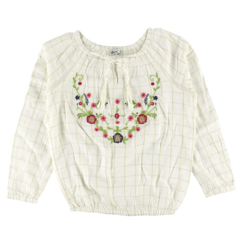 Mexico Flowers Long Sleeve Shirt 7-14y