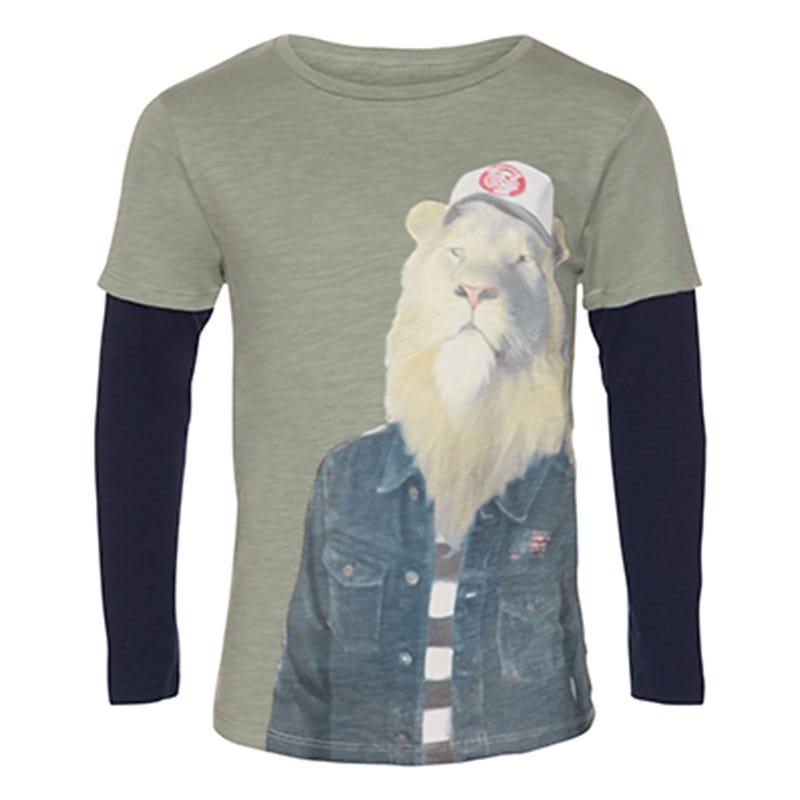T-Shirt à Manches Longues Lion Remix 7-14ans