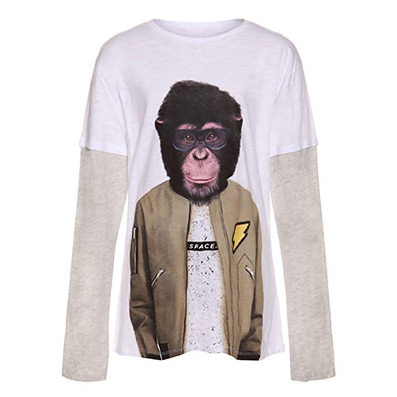Remix Monkey Long Sleeve Shirt 7-14y