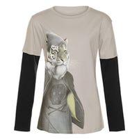 T-Shirt à Manches Longues Tigre Remix 7-14ans