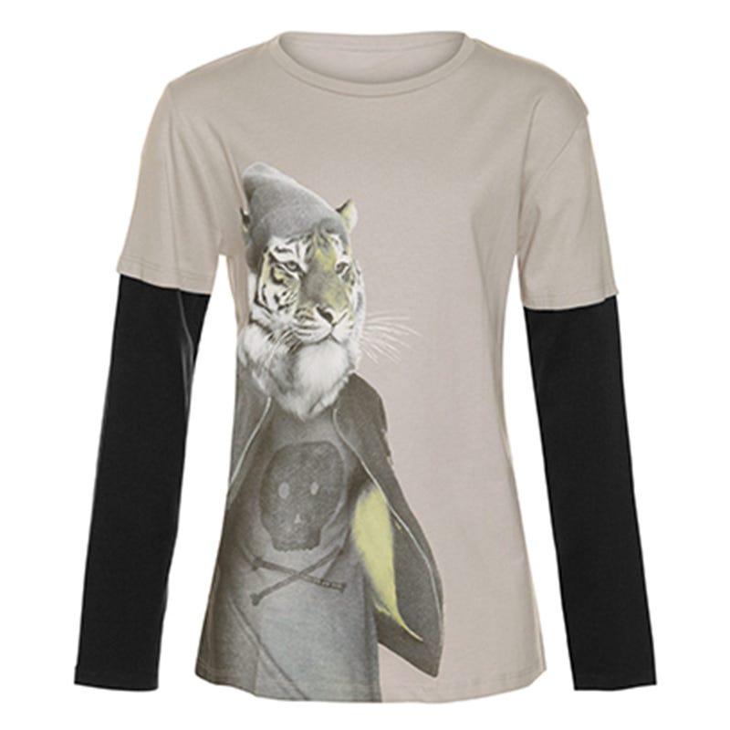 Remix Tiger Long Sleeve Shirt 7-14y