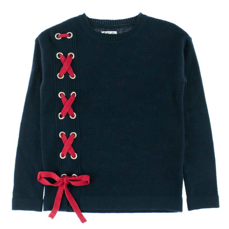 Nashville Lace-Up Sweater 7-14