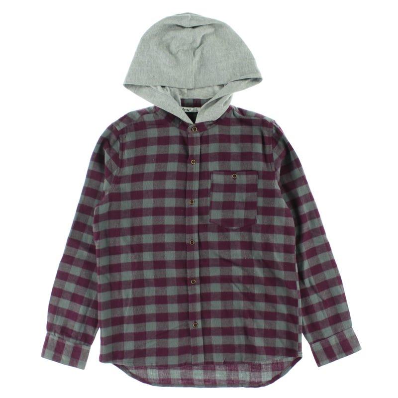 Explore Hood Plaid Shirt 7-14