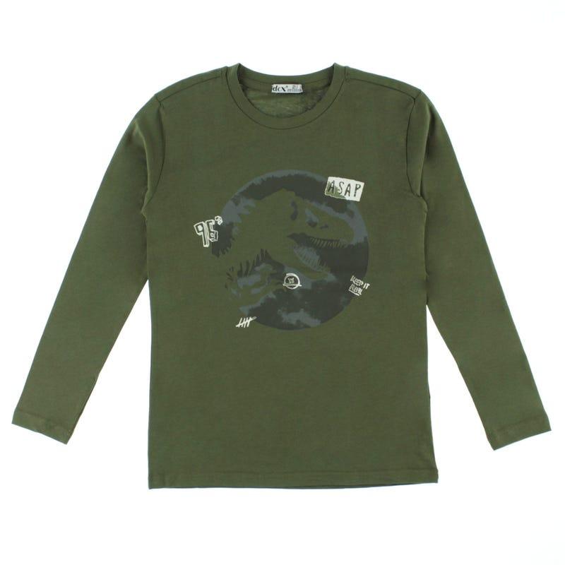 T-Shirt à Manches Longues Dino Explore 7-14ans