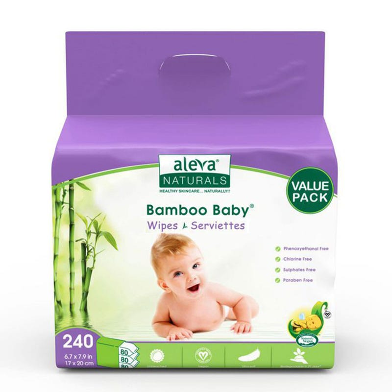 Lingettes Bamboo Baby (240)