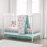 4-Piece Crib Bedding Set - Pink Cora