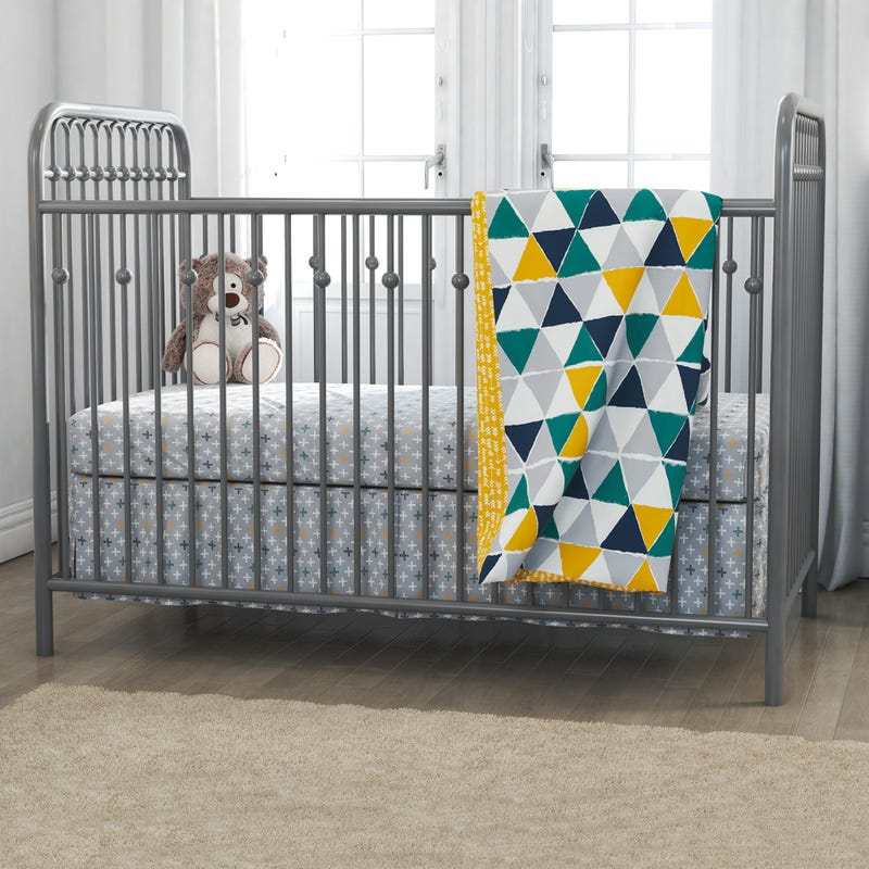 4-Piece Crib Bedding Set - Jax Yellow