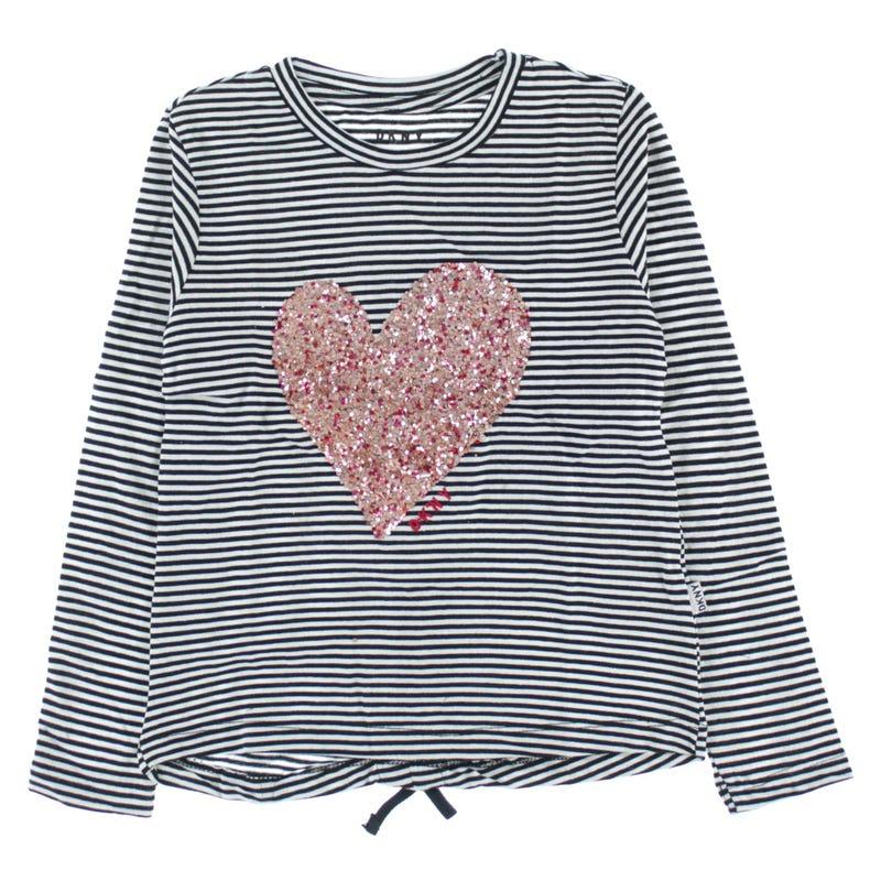 T-Shirt Manches Longues Coeur 4-6ans