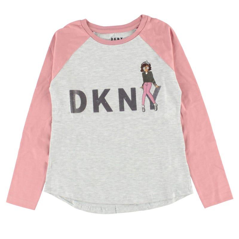 T-Shirt Manches Longues Raglan DKNY 4-6ans