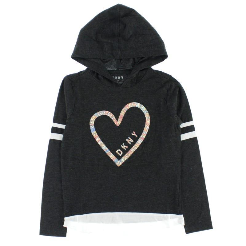 Heart Hooded Long Sleeves T-Shirt 7-16y
