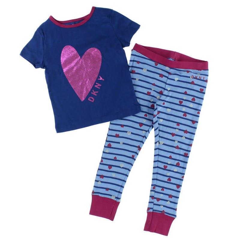 DKNY Heart & Stripes Pajamas